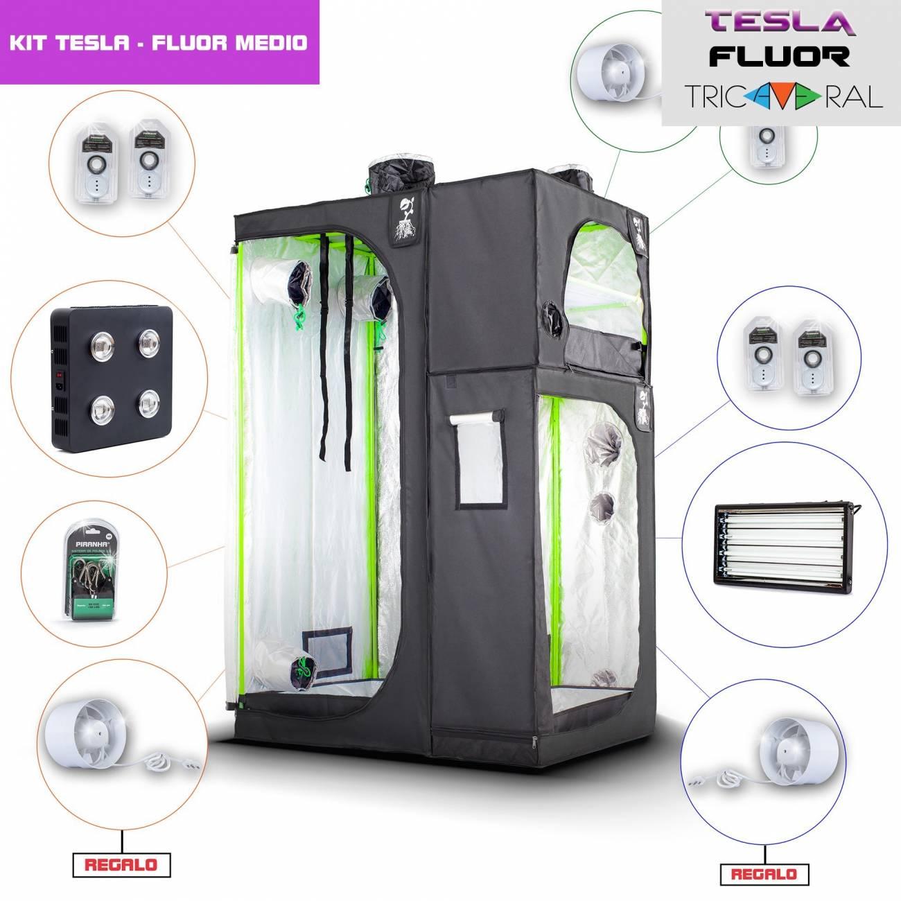 Kit Tricameral Tesla/Fluor Extended