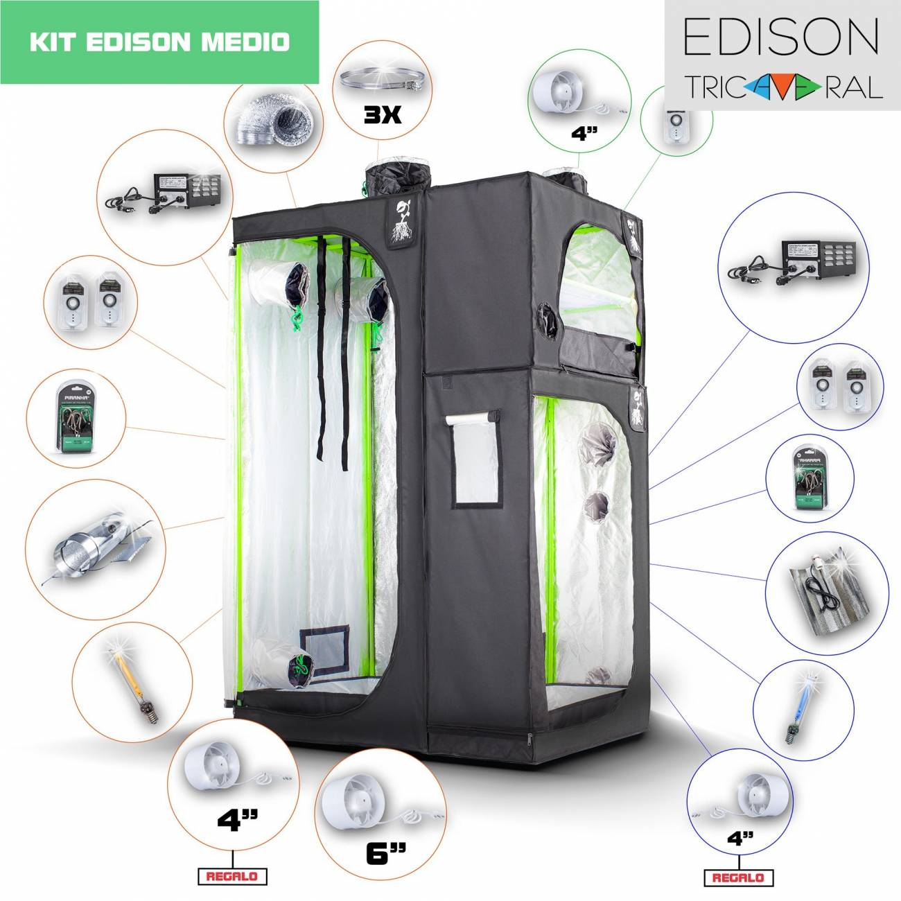 Kit Tricameral Edison Cooltube Medio