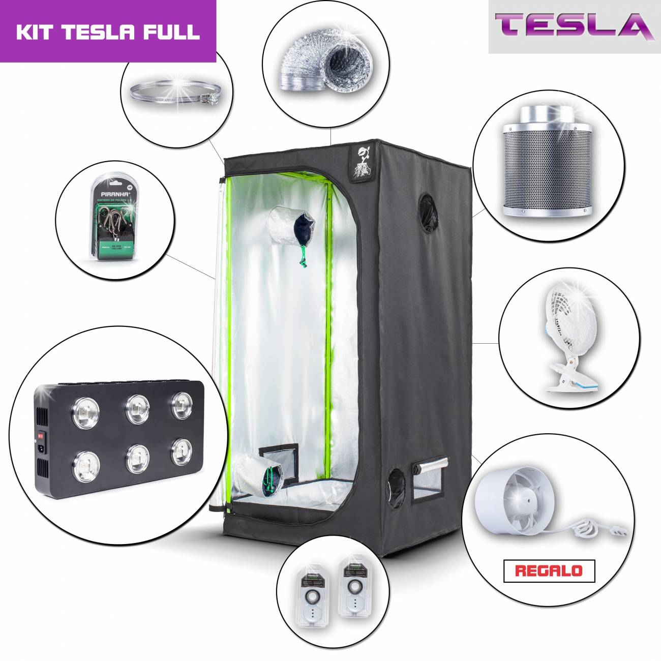 Kit Tesla 80 - T540W Completo